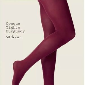 Women's 50D Opaque Tights - A New Day™ Burgundy
